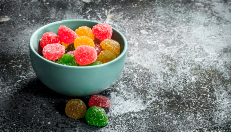 Jelly sweets in a bowl