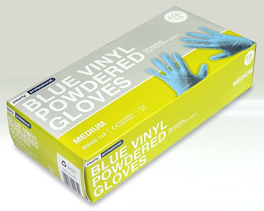 V17 POLYTHENE GLOVES MEDIUM /LARGE