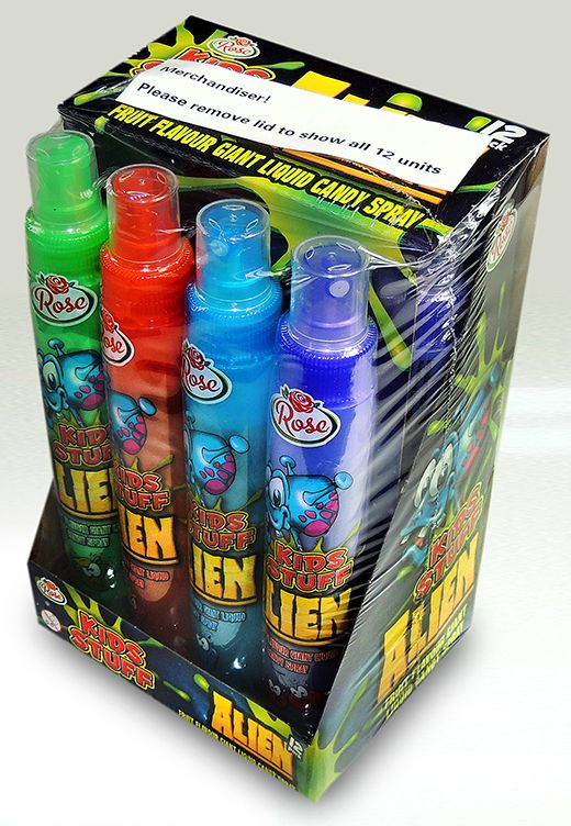 W34 ALIEN GIANT SPRAY CANDY X12